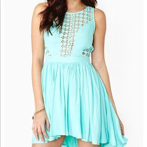 Blessed are the Meek Global Aqua dress